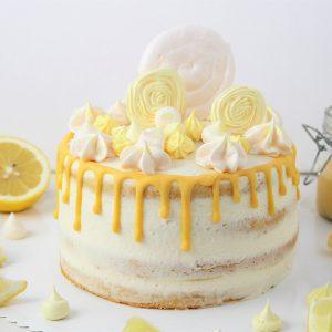 Rezept für Zitronenbuttermilchtorte