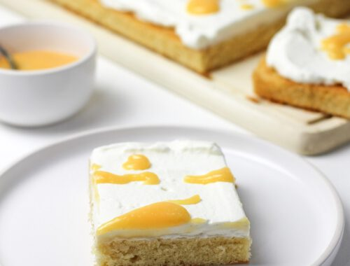 Quarkschnitte mit Lemon Curd