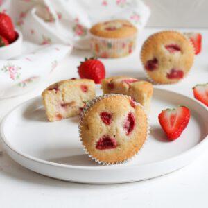 Rezept für Erdbeermuffins