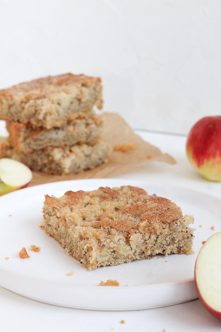 Rezept für Apfelnusskuchen mit Streuseln